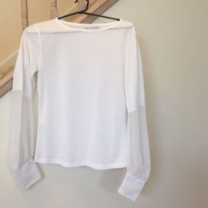 Newport News Tops - Top with sheer sleeves